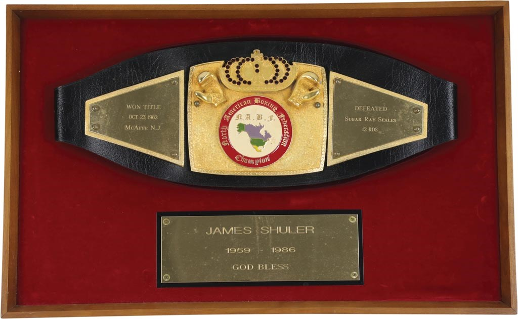 1982 James Shuler WBC NABF Middleweight Championship Belt