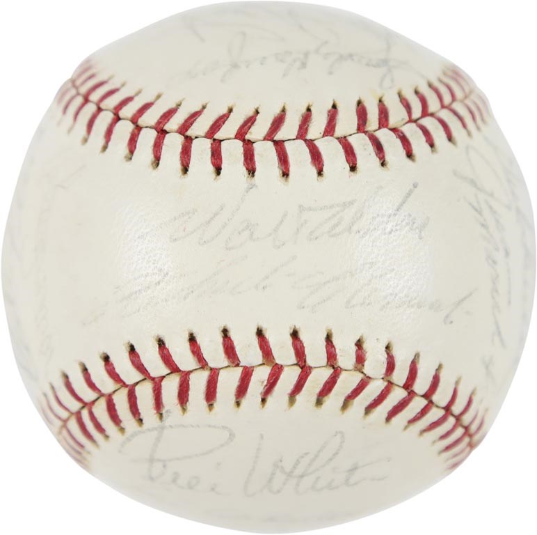 1964 National League All-Stars Team Signed Baseball with Roberto Clemente on Sweet Spot (JSA)