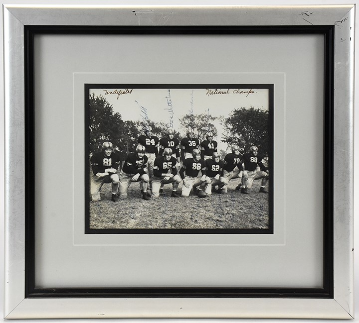 1945 Army National Championship Team Signed Photo (PSA/DNA)