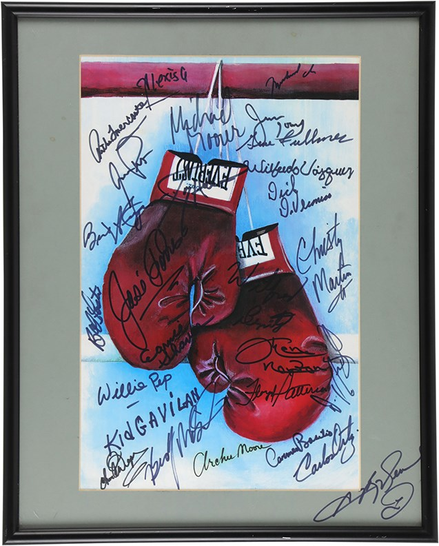 Boxing Legends Signed Print W/ Muhammad Ali (20+)