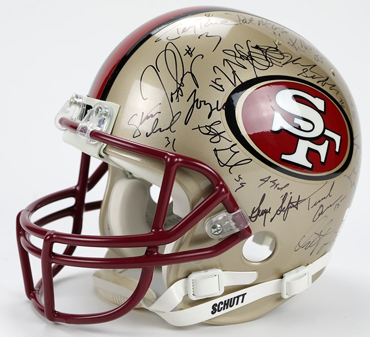 1996 San Francisco 49ers Team Signed Helmet (30+)