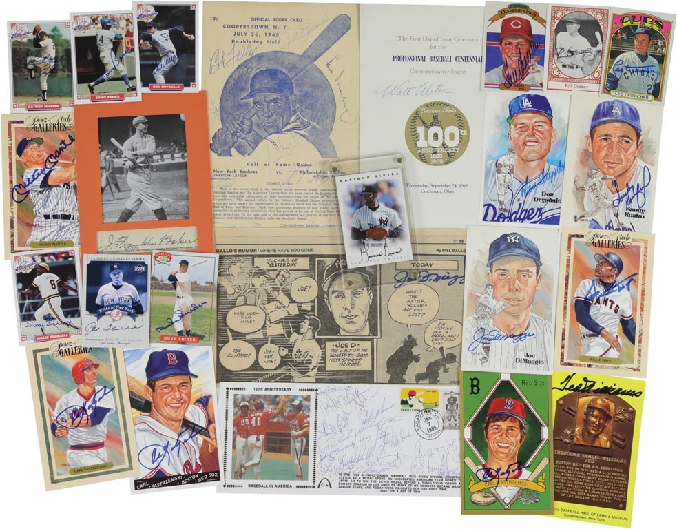 Multi-Sport Hall of Famer Autograph Collection (70+)