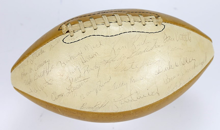 1974 Rose Bowl Champion Ohio Buckeyes Signed Ball with Woody Hayes