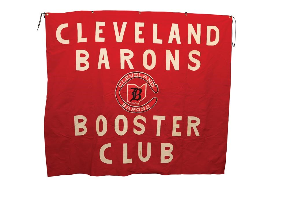 Original Cleveland Barons Booster Club Arena Banner