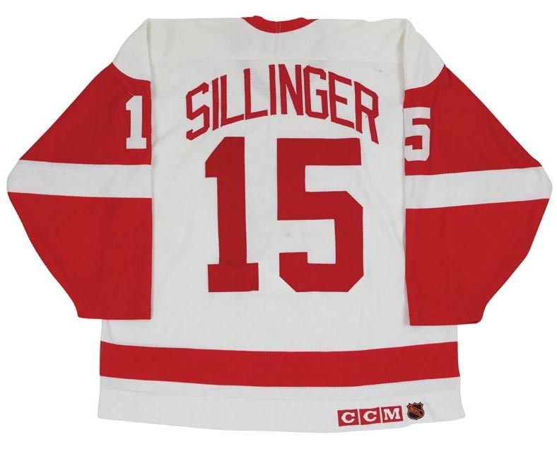1991-92 Mike Sillinger Detroit Red Wings Playoffs Game Worn Jersey