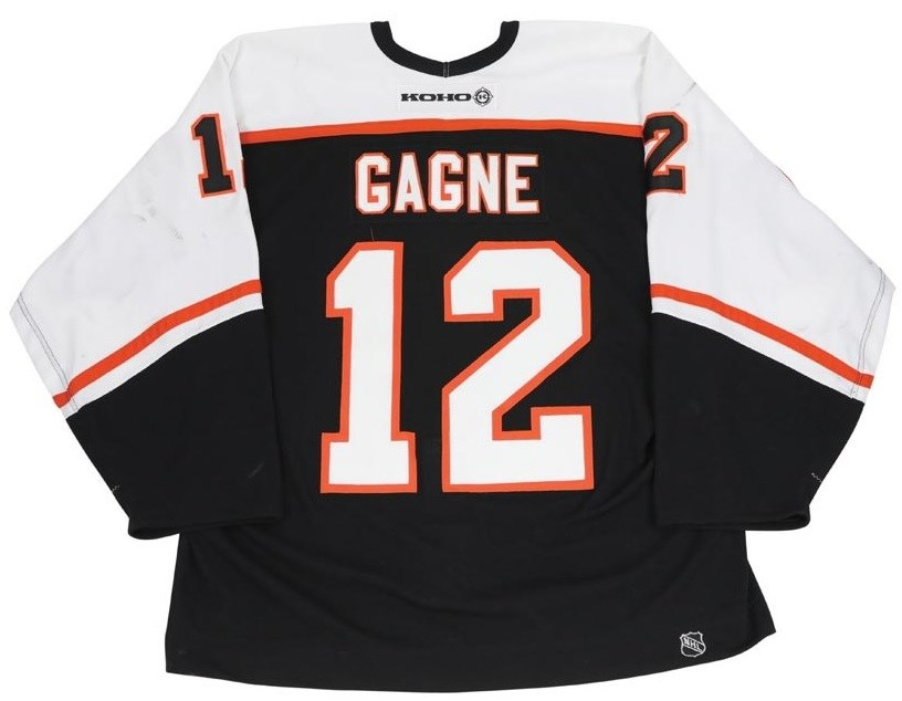 2002-03 Simon Gagne Philadelphia Flyers Game Worn Jersey (Photo-Matched & MeiGray)