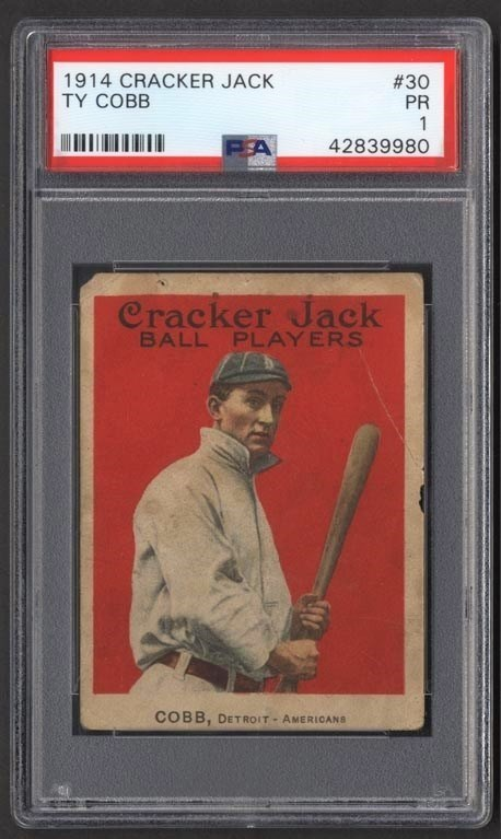 1914 Cracker Jack #30 Ty Cobb (PSA)