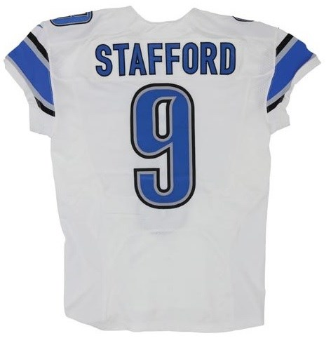 2014 Mathew Stafford Game Issued Detroit Lions Game Worn Jersey
