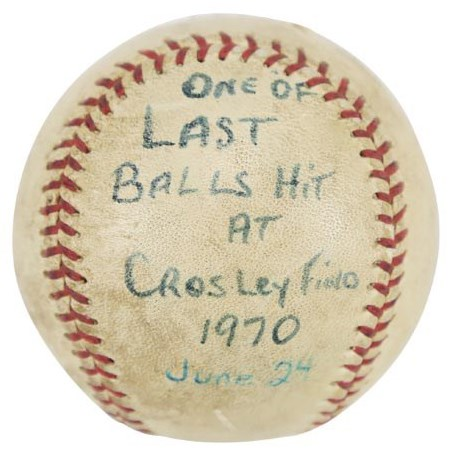 One of the Last Baseballs Hit at Crosley Field (Bernie Stowe Collection)