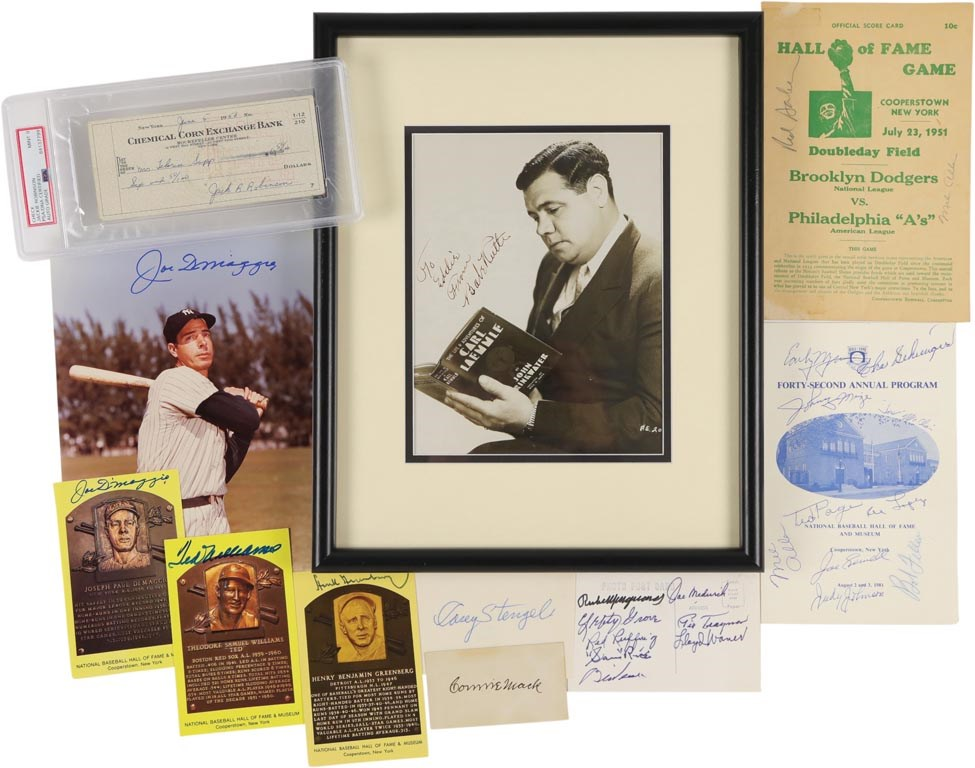 Baseball Hall of Fame Autograph Collection with Babe Ruth (100+)