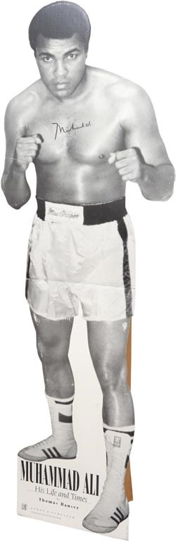 Muhammad Ali Signed Promotional Cardboard Standee