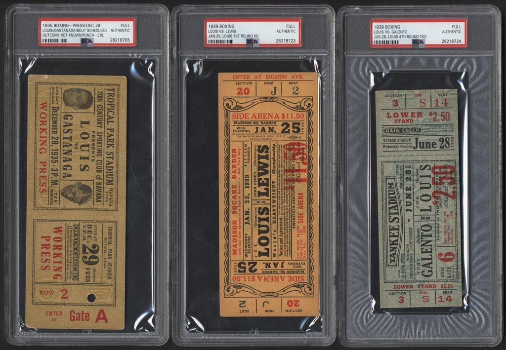 Joe Louis Fight Ticket Collection (3)