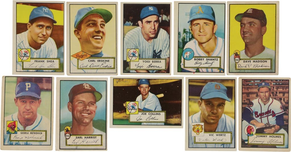1952 Topps Baseball Partial Set with High Numbers (274/407)