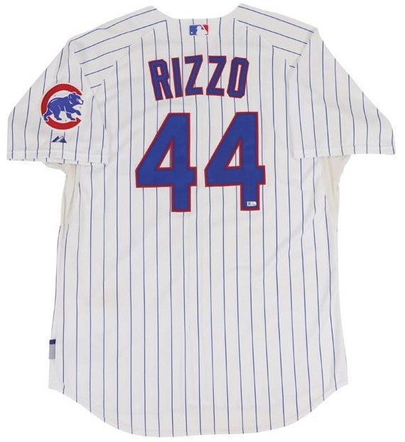 8/1/13 Anthony Rizzo Chicago Cubs Two Home-Run Game Worn Jersey (Photo-Matched & MLB Auth.)