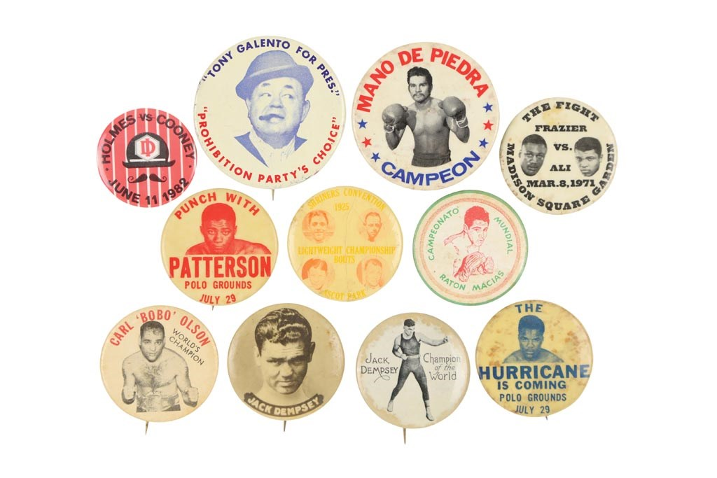 1920s-80s Awesome Boxing Photo Pinbacks & Buttons (10+)