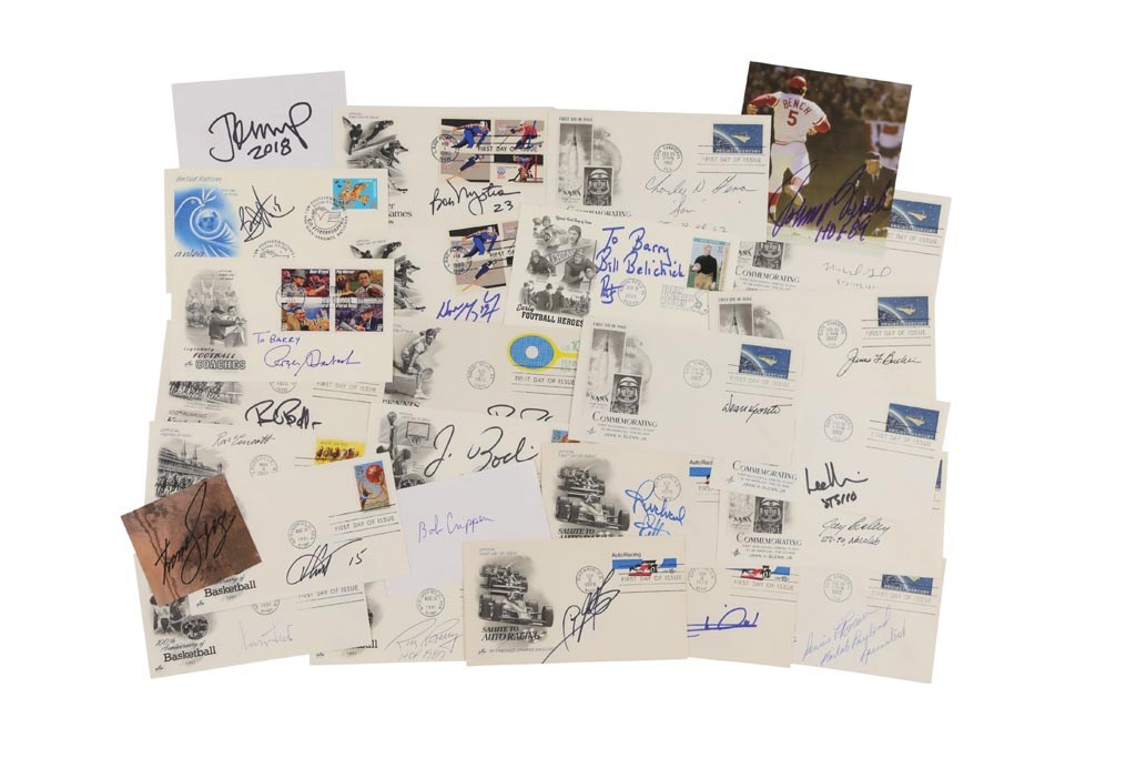 Multi-Sport Autograph Collection of Mostly First Day Covers with 120+ Hall of Famers (400+)