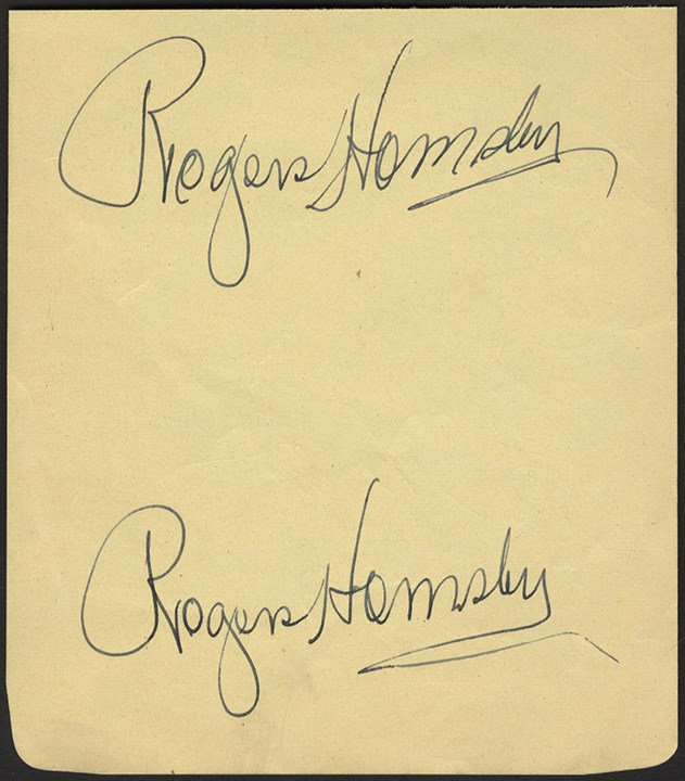 Mint Rogers Hornsby Double-Signed Album Page