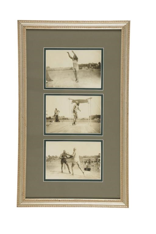 Circa 1910 Jack Johnson Original Photographs Display