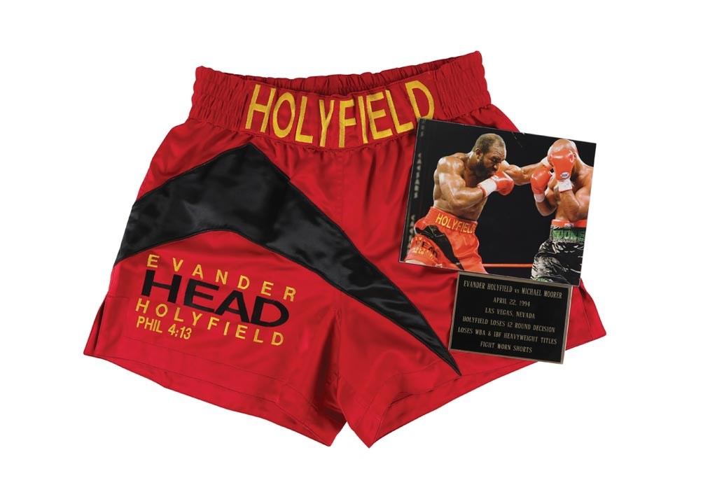 1994 Evander Holyfield Fight Worn Trunks