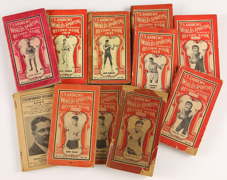 1917-26 T.S. Andrews' World Sporting Annual Record Book Collection (11)