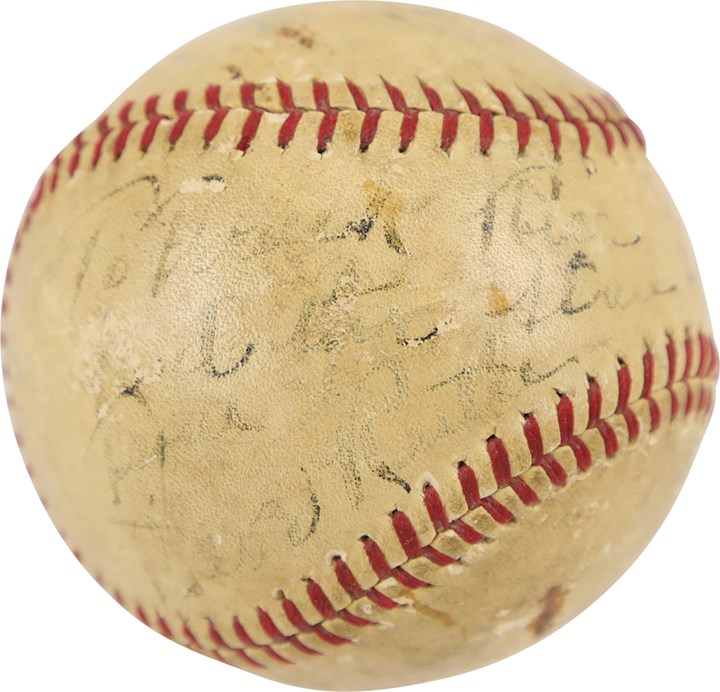 1924 Babe Ruth in Dunsmuir Single-Signed Baseball (PSA)