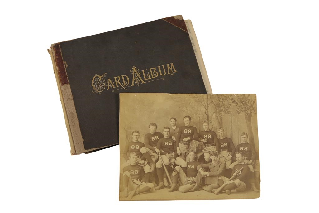 1885-86 Harvard Baseball Scrapbook w/Amos Alonzo Stagg