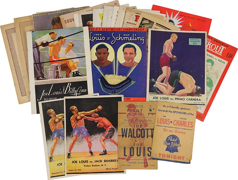 1935-51 Joe Louis Fight Programs & Ephemera (25+)