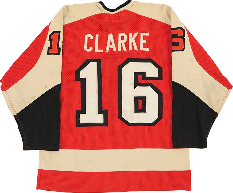 Late 1970s Bobby Clarke Philadelphia Flyers Game Worn Jersey (Photo-Matched)
