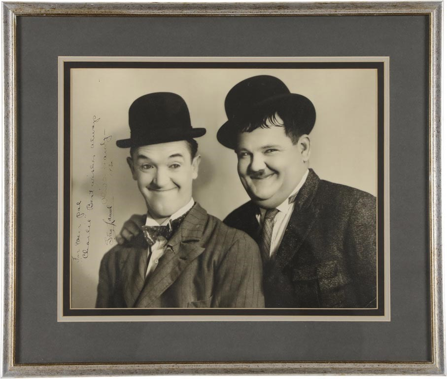 Laurel & Hardy Signed Oversized Photograph (PSA)