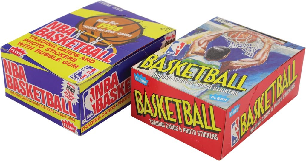 1988 and 1989 Fleer Basketball Unopened Wax Boxes (2)