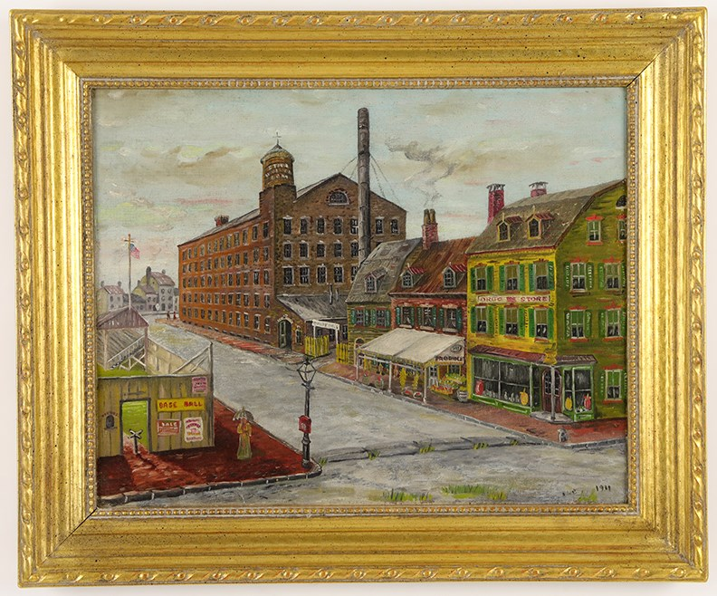 1911 City Ballpark Oil on Board