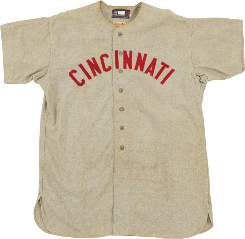1946 Cincinnati Reds Hank Gowdy Jersey and Health Patch
