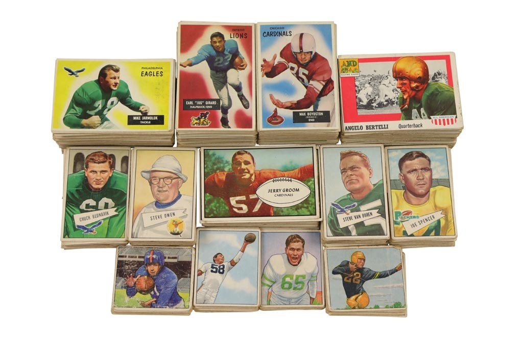 1950-1955 Bowman and Topps Football Collection (521) with Stars
