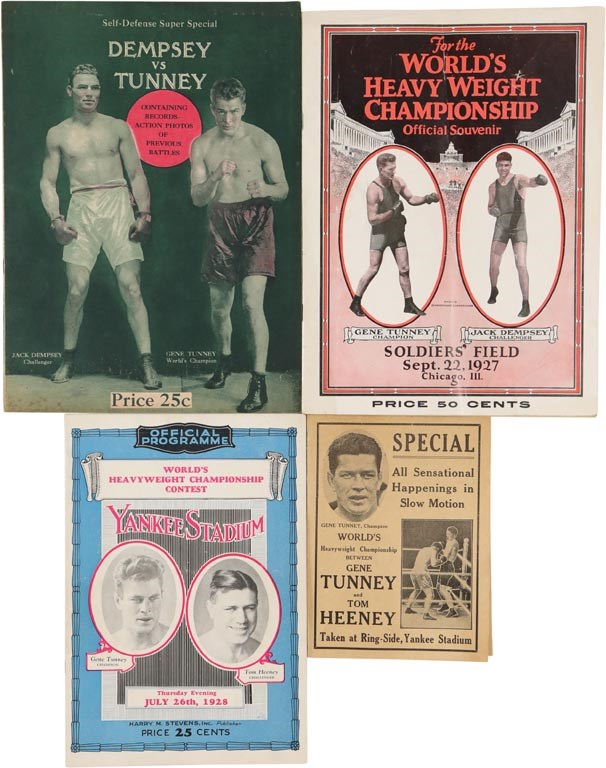 Gene Tunney Boxing Programs (4)
