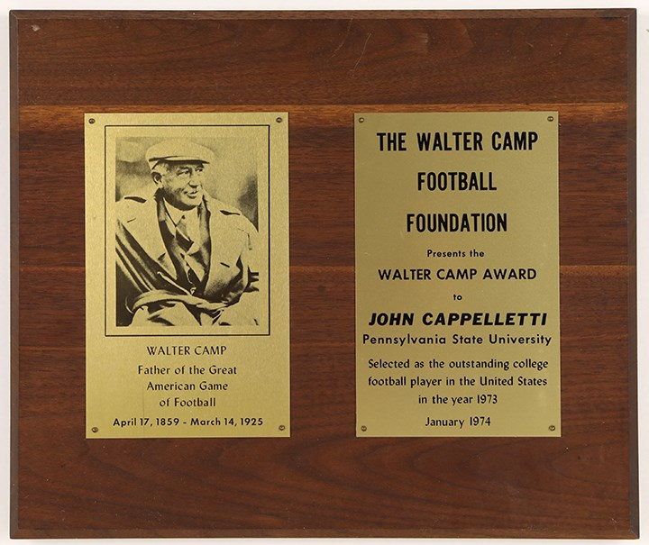 1973 John Cappelletti Walter Camp Award with Newspaper Article Provenance