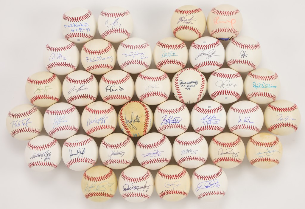 Group of 36 Autographed Baseballs