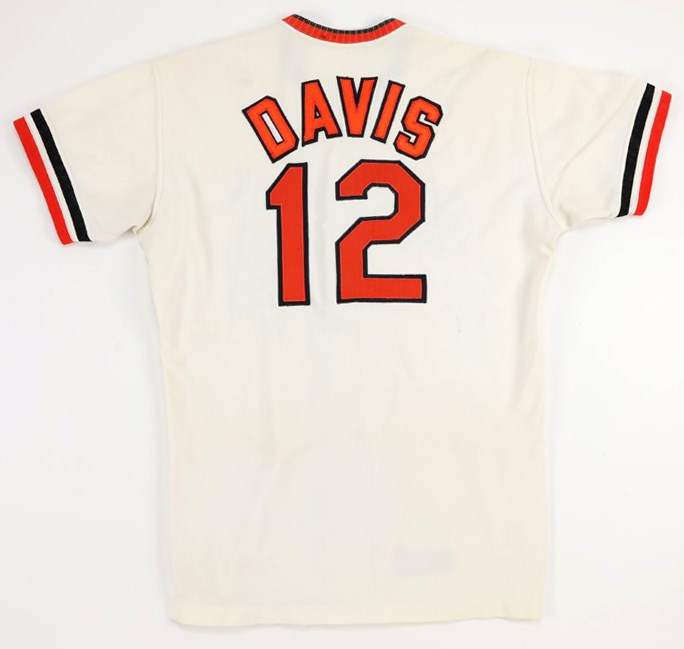 1973 Tommy Davis Baltimore Orioles Game Worn Jersey