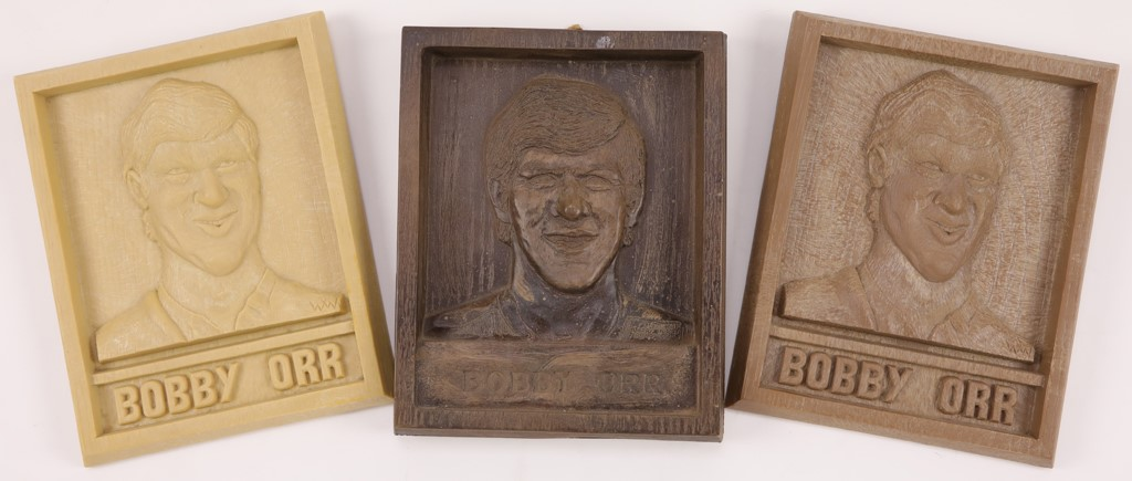 Three Different Bobby Orr Wall Plaques