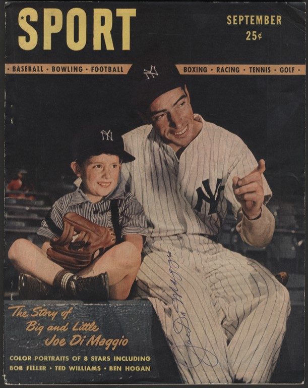 1946 Joe DiMaggio Signed Sport Magazine Issue #1 (PSA)