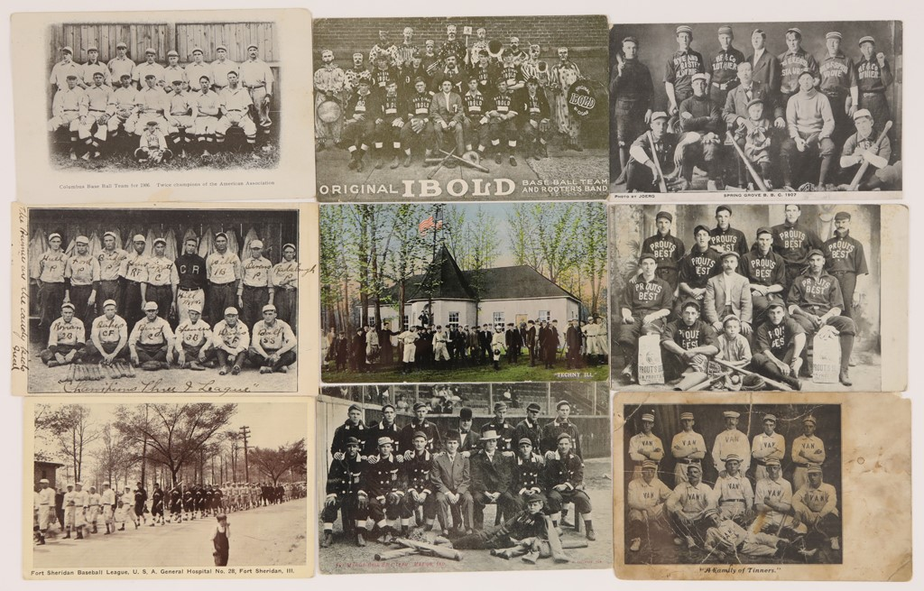 Early 1900s Baseball Team Postcards (9)