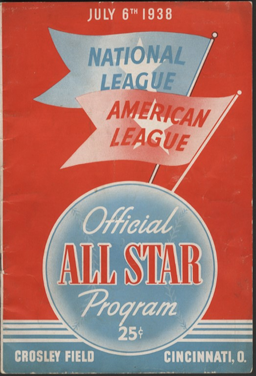 1938 Official All-Star Game Program