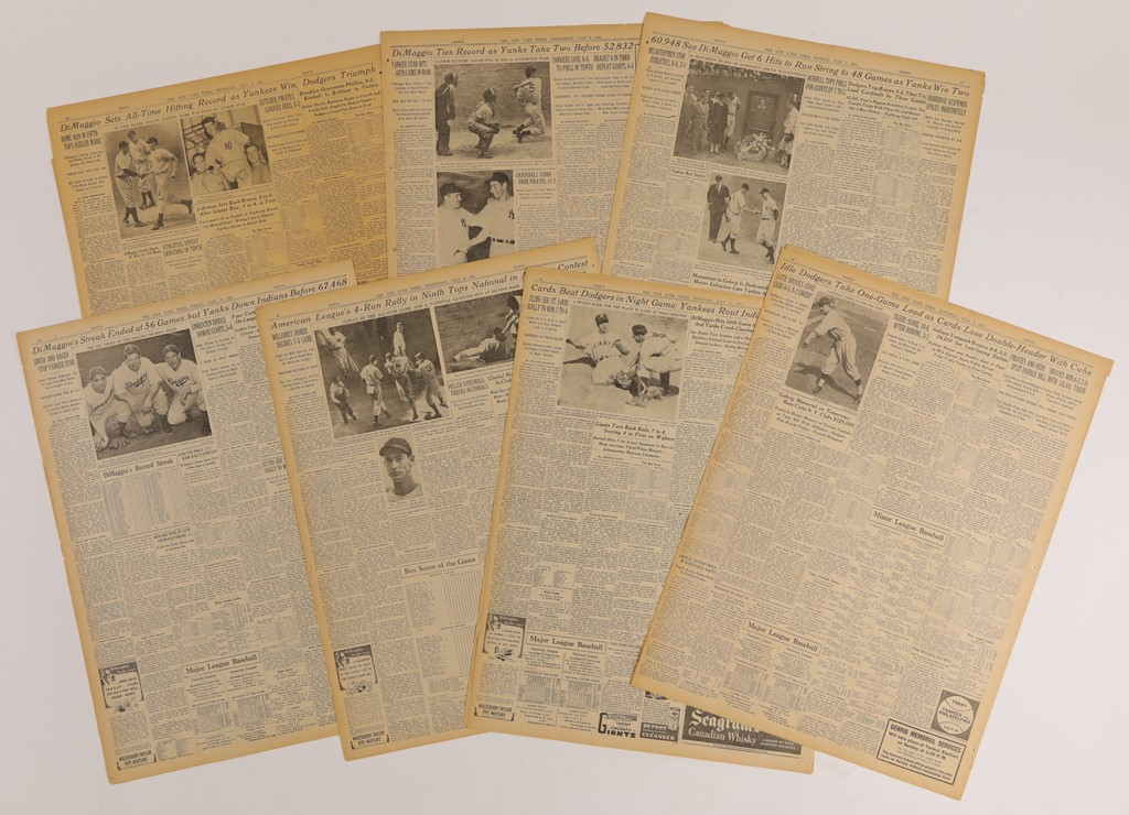 Joe DiMaggio 56 Game Hitting Streak Newspapers (7)