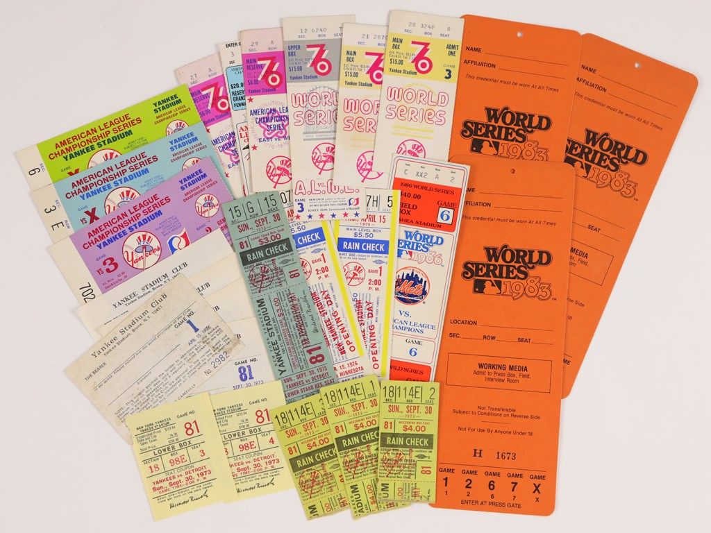 1970s-80s Yankees and Mets Ticket Collection with '86 World Series Game 6 (25)