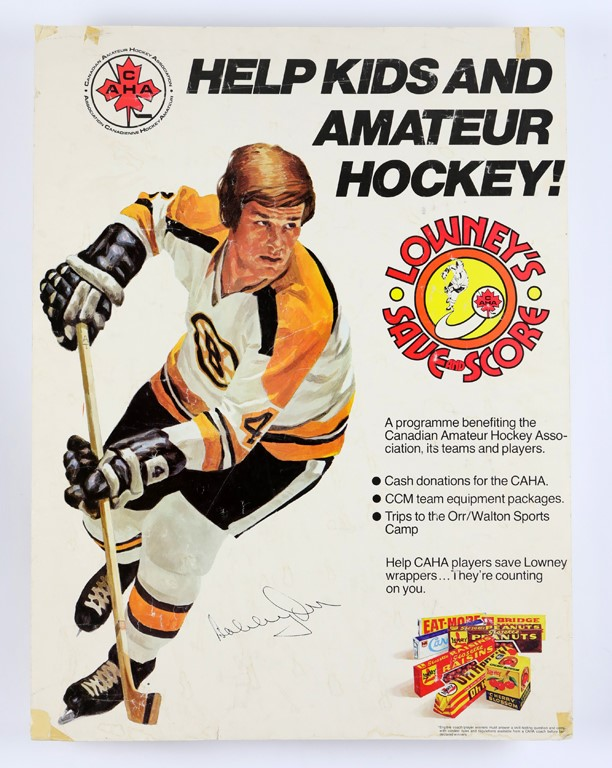 1970s Bobby Orr Lowney's Advertising Display