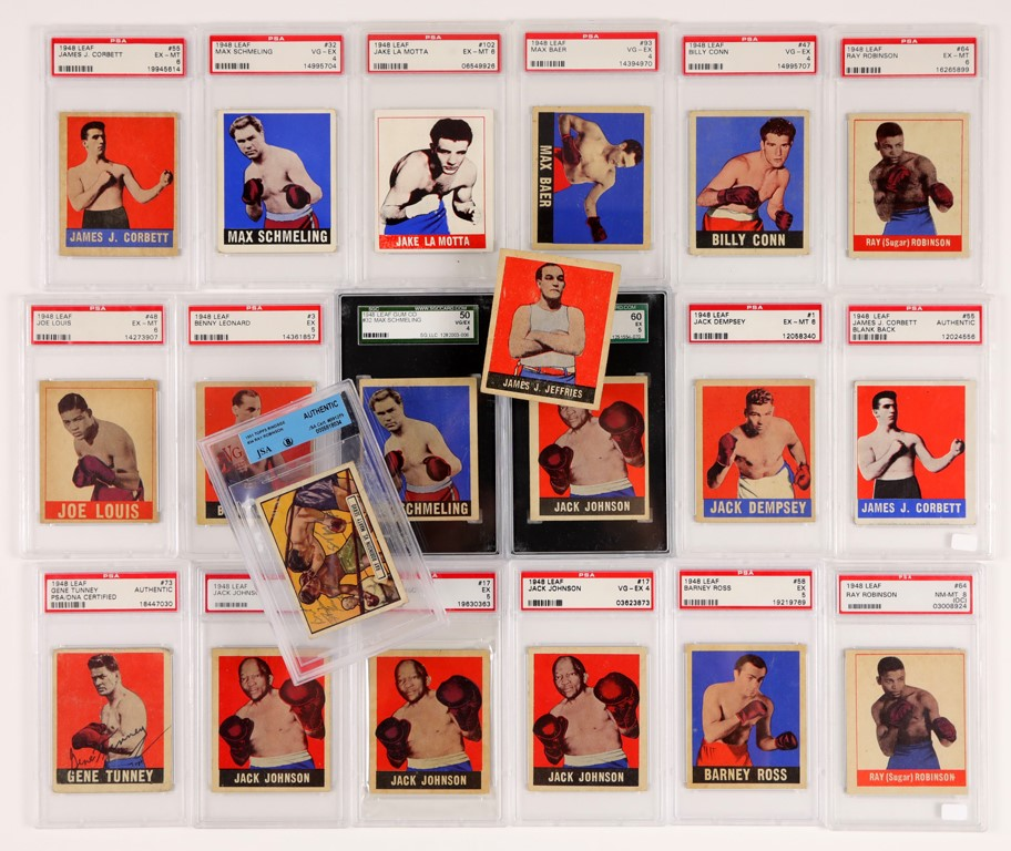 1948 Leaf Boxing Signed and Unsigned Cards (20)