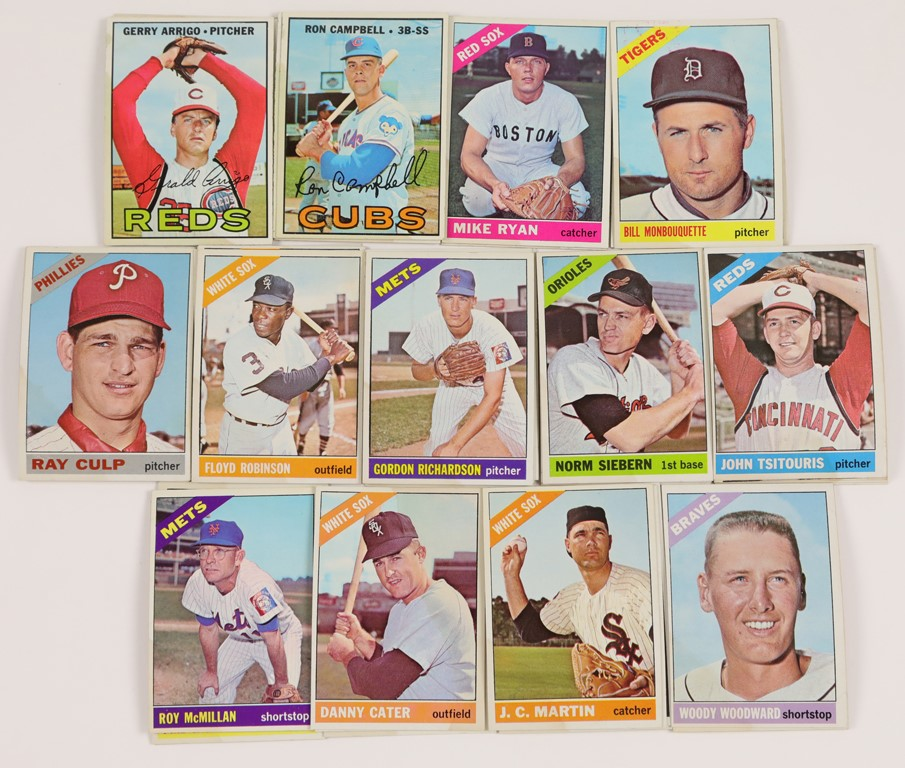 1966 Topps Perfect Card Lot w/Stains (59)
