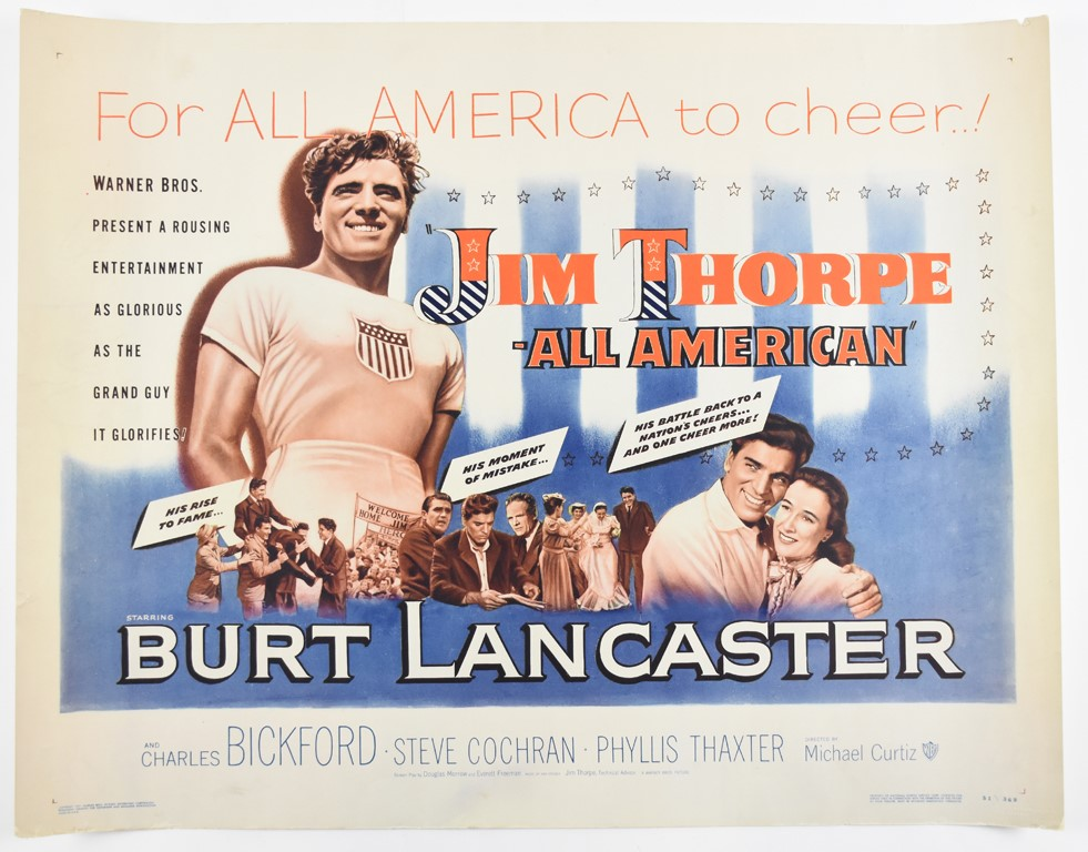 1951 Jim Thorpe All American Movie Poster