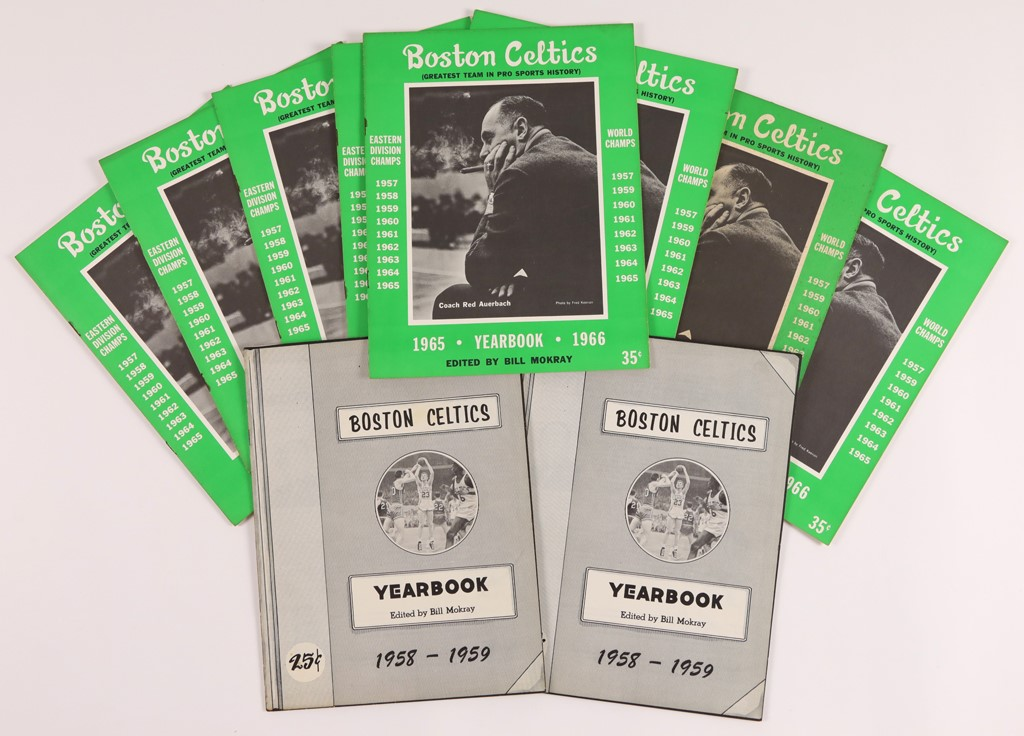 Find of Vintage 1950's & 1960's Boston Celtics Yearbooks