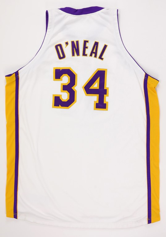 2003-04 Shaquille O'Neal Game Worn Los Angeles Lakers Jersey