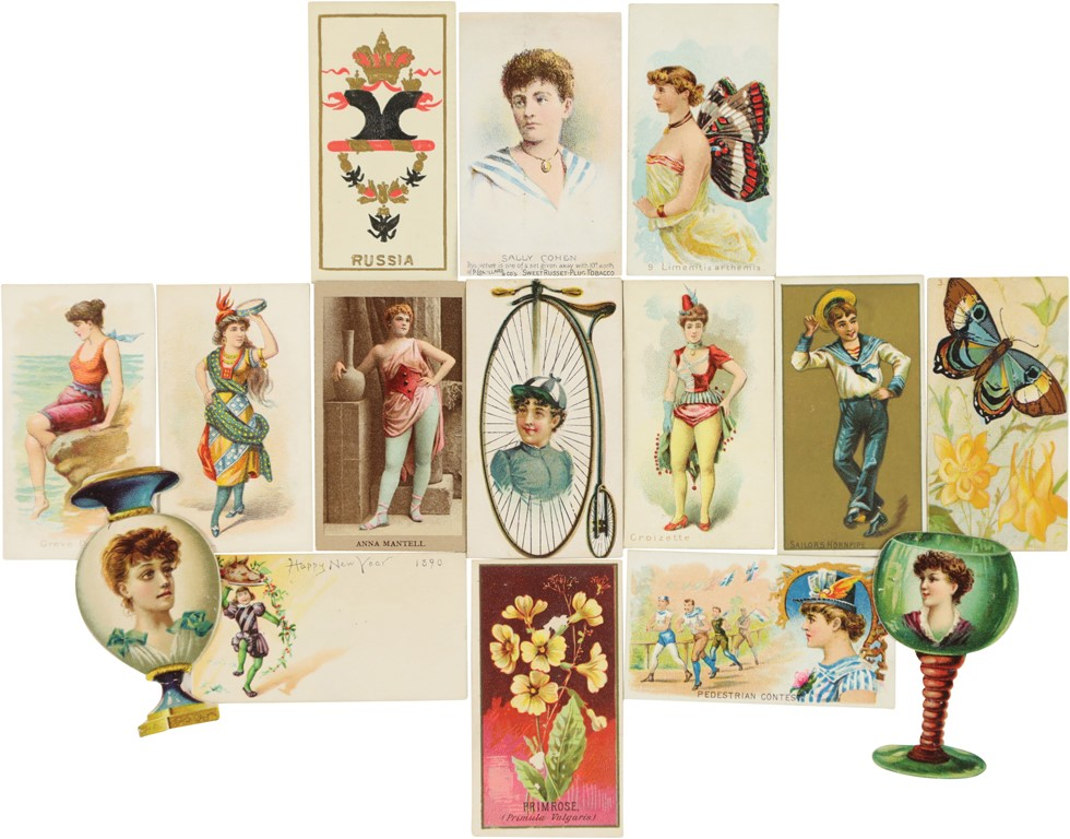 19th Century Tobacco Cards w/Actresses, Lovely Ladies & More (300+)
